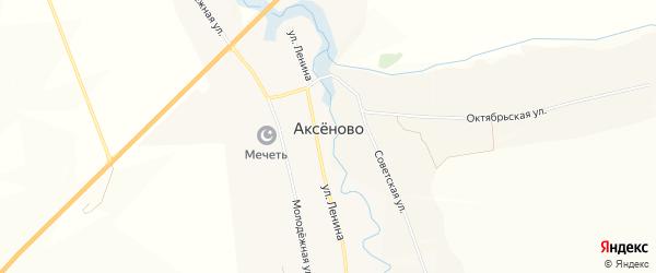 Карта села Аксеново в Мордовии с улицами и номерами домов