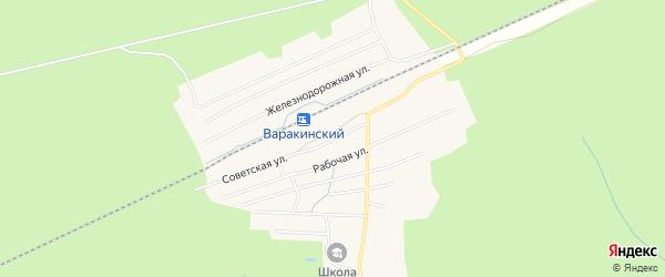 Карта Варакинского поселка в Костромской области с улицами и номерами домов