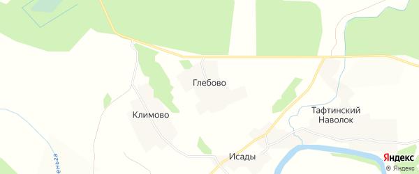 Карта деревни Глебово в Вологодской области с улицами и номерами домов