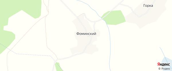 Карта Фоминского починка в Вологодской области с улицами и номерами домов