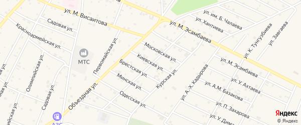 Киевская улица на карте Надтеречного села с номерами домов