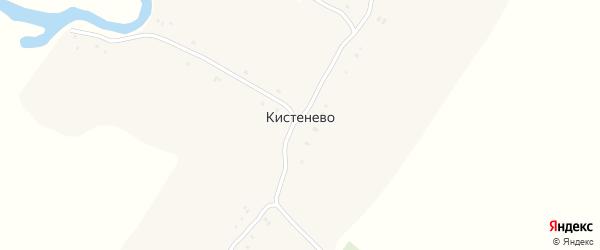 Улица Дубровского на карте села Кистенево Нижегородской области с номерами домов