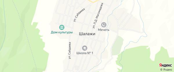 Карта села Шалажи в Чечне с улицами и номерами домов