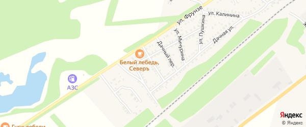 Зеленый переулок на карте Петровска с номерами домов