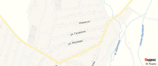 Улица Гагарина на карте села Шалажи с номерами домов