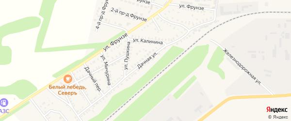 Дачная улица на карте Петровска с номерами домов