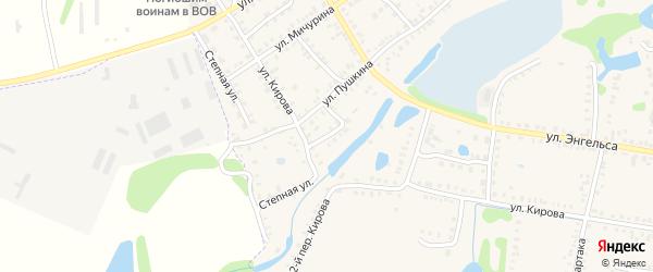 Переулок Пушкина на карте Петровска с номерами домов