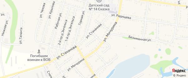 Мичурина 3-й переулок на карте Петровска с номерами домов