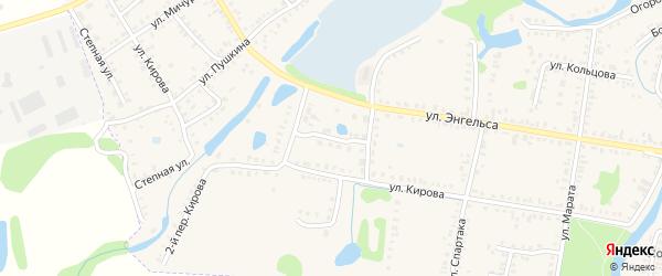 Молодежный переулок на карте Петровска с номерами домов