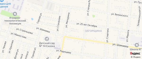 Проезд Мичурина на карте Петровска с номерами домов