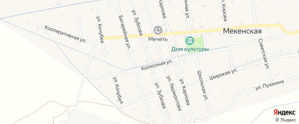 Улица Зубкова И.С. на карте Мекенская станицы с номерами домов