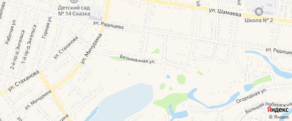 Безымянная улица на карте Петровска с номерами домов