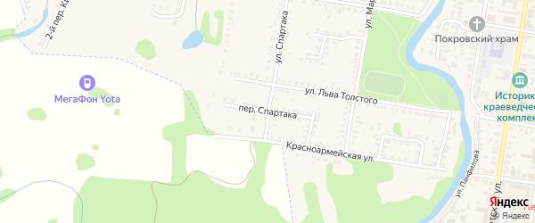 Красноармейский переулок на карте Петровска с номерами домов