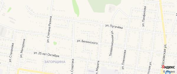 Белинского 1-й переулок на карте Петровска с номерами домов