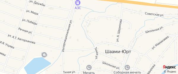 Интернациональная улица на карте села Шаами-Юрт Чечни с номерами домов