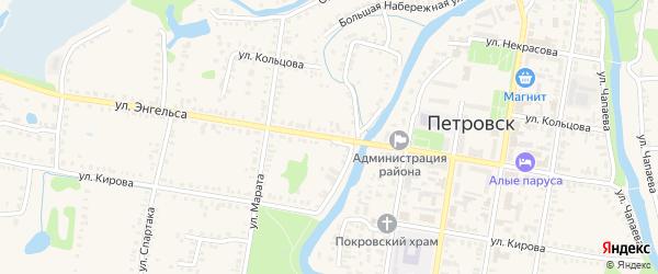 Улица Ф.Энгельса на карте Петровска с номерами домов
