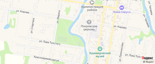 Улица Плеханова на карте Петровска с номерами домов