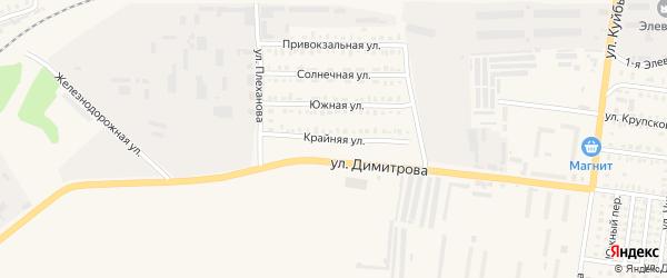 Крайняя улица на карте Петровска с номерами домов