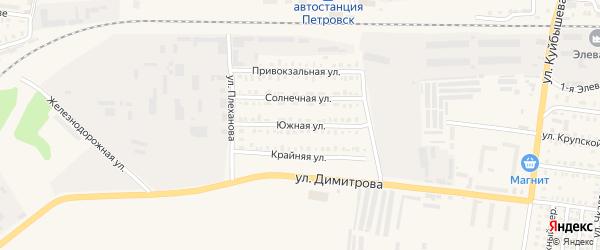 Южная улица на карте Петровска с номерами домов