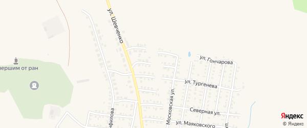 Шевченко 2-й проезд на карте Петровска с номерами домов