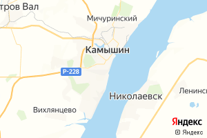 Карта г. Камышин Волгоградская область