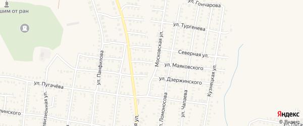 Улица Маяковского на карте Петровска с номерами домов