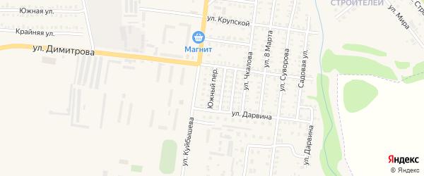 Южный переулок на карте Петровска с номерами домов