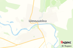 Карта пгт Шемышейка