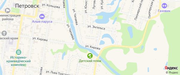 Переулок Куйбышева на карте Петровска с номерами домов