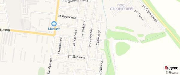 Улица Суворова на карте Петровска с номерами домов