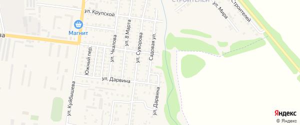 Садовая улица на карте Петровска с номерами домов