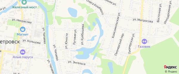 Озерная улица на карте Петровска с номерами домов