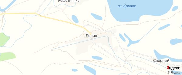 Карта хутора Лопина в Астраханской области с улицами и номерами домов