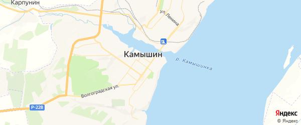 Карта Камышина с районами, улицами и номерами домов