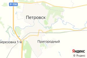 Карта г. Петровск Саратовская область