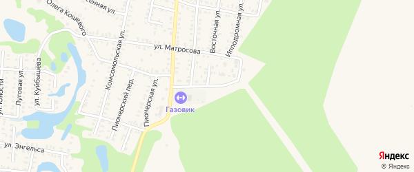 Восточная улица на карте Петровска с номерами домов