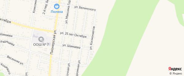 Улица Космонавтов на карте Петровска с номерами домов