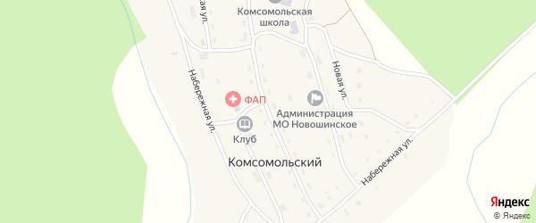 Центральная улица на карте Комсомольского поселка с номерами домов