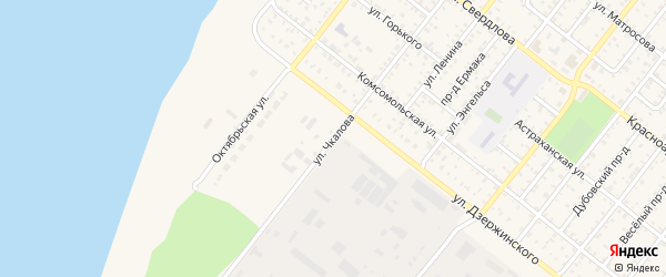 Улица Чкалова на карте Николаевска с номерами домов