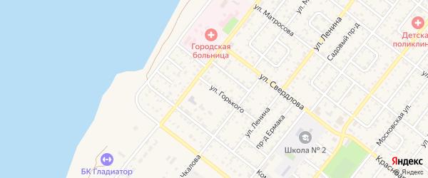 Улица Горького на карте Николаевска с номерами домов