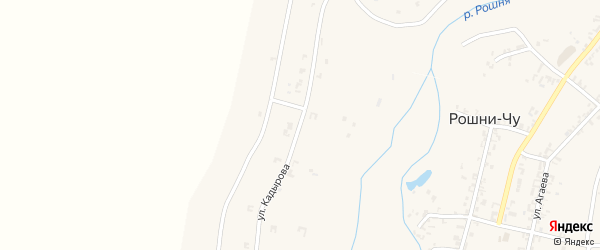 Переулок 10-й А.Кадырова на карте села Рошни-Чу Чечни с номерами домов