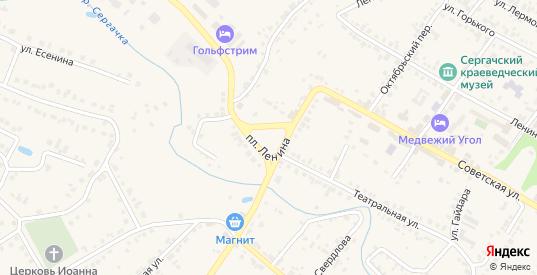 Площадь Ленина в Сергаче с номерами домов на карте. Спутник и схема онлайн