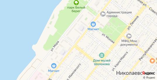 Октябрьская улица в Николаевске с номерами домов на карте. Спутник и схема онлайн