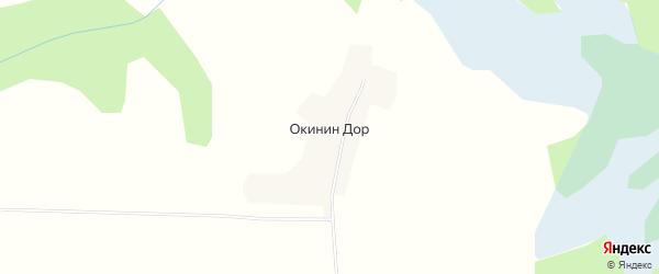 Карта деревни Окинина Дор в Вологодской области с улицами и номерами домов