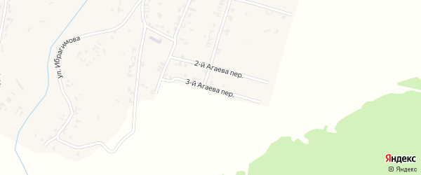 Переулок 3-й Х.Нурадилова на карте села Рошни-Чу Чечни с номерами домов