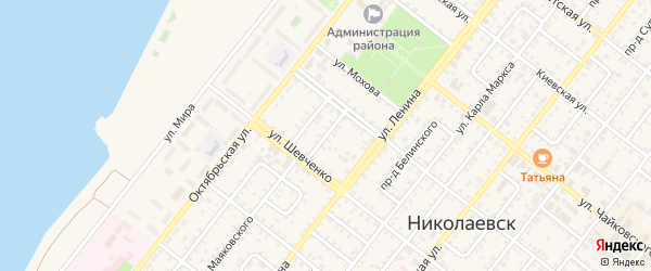 Ленинградский проезд на карте Николаевска с номерами домов