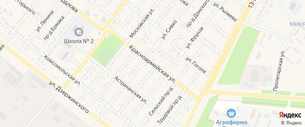 Красноармейская улица на карте Николаевска с номерами домов