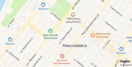 Улица Чернышевского в Николаевске с номерами домов на карте. Спутник и схема онлайн