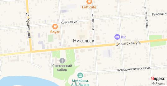 Переулок Беляева в Никольске с номерами домов на карте. Спутник и схема онлайн