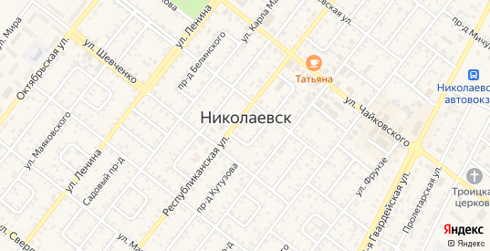 Дубовский проезд в Николаевске с номерами домов на карте. Спутник и схема онлайн